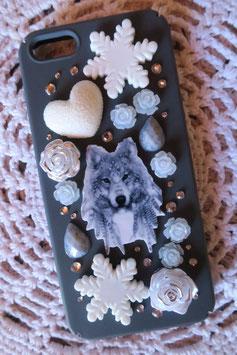 Coque IPHONE5/5S/5SE , Loup des glaces