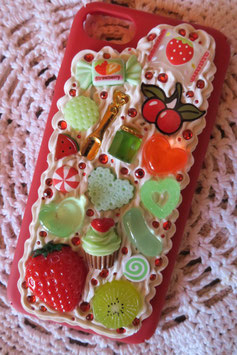 Coque IPHONE 7/8 , Fruits rouges et matcha
