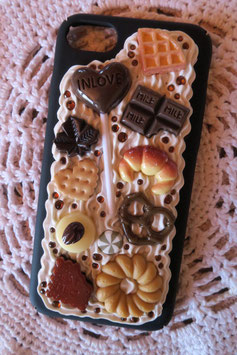 Coque IPHONE 7/8 , Sucette choco et biscuits