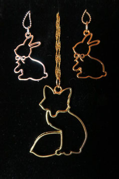 "Collier ""Contour d'animaux"""