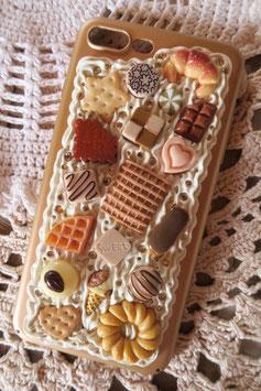 Coque IPHONE 7+/8+ , Vanille caramel et chocolat