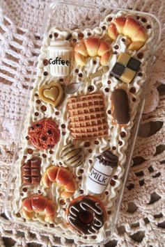 Coque IPHONE 7+/8+ , Café caramel