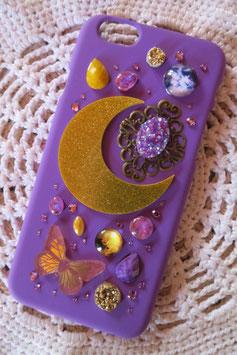 Coque pour IPHONE6/6S - Système Lunaire - Violet et doré