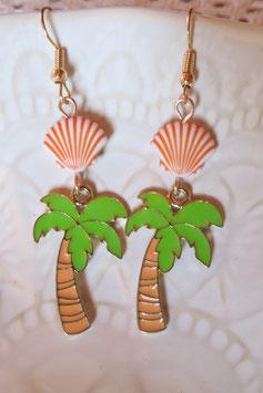 """Boucles d'oreilles """"Vue sur les palmiers"""""""