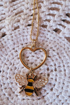 """Collier """"Mon petit amour d'abeille"""" version doré"""