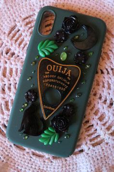 Coque IPHONE X/XS , La forêt spirituelle , Ouija vert/doré