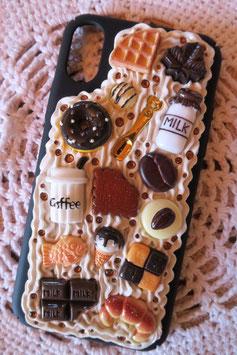 Coque IPHONE X/XS , Café donuts & co