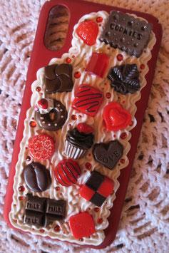 Coque IPHONE X/XS , Choco fraise
