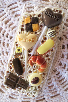 Coque pour IPHONE 5C - Duo de sucettes chocolat blanc et noir