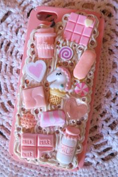 Coque IPHONE5/5S/5SE , Licorne all pink