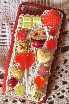 Coque IPHONE 7+/8+ , Cupcake fruits rouges