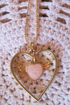 """Collier """"Le coeur magique logé dans ton coeur"""""""
