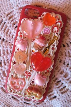 Coque IPHONE 7/8 , Duo sucette rose et rouge