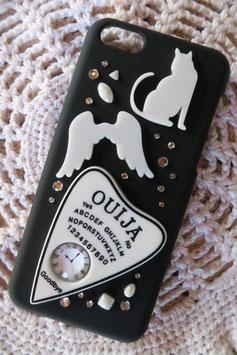 Coque pour IPHONE 5C - Ouija horloge , blanc et noir