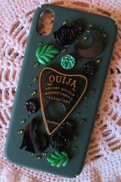 Coque IPHONE XR , La forêt spirituelle, Ouija vert/doré