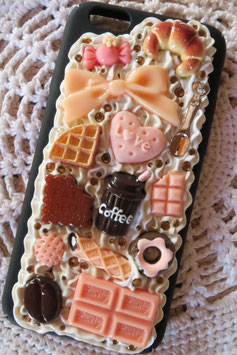 Coque pour IPHONE6/6S - Choco peach