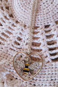 "Collier ""Grand amour d'abeille"""
