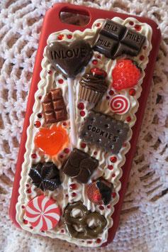 Coque pour IPHONE6/6S - Sucette en chocolat goût fraise