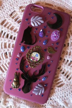 Coque IPHONE 6+/6S+ , L'horloge de la forêt