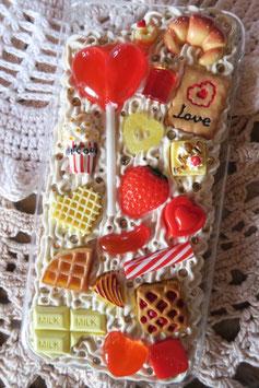 Coque IPHONE 6+/6S+ , Sucette fraise et biscuits