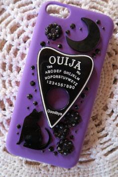 Coque pour IPHONE 5C - Plaquette de ouija noire fond violet