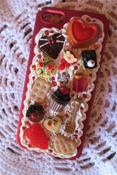 Coque IPHONE5/5S/5SE , Cupcake choco fraise
