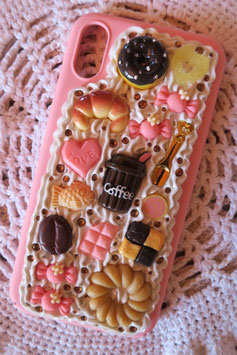 Coque IPHONE X/XS , Café peach