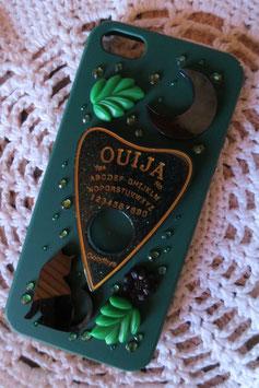 Coque IPHONE5/5S/5SE , La forêt spirituelle , Ouija noir/vert/doré