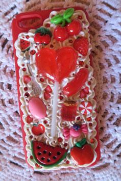 Coque IPHONE5/5S/5SE , Sucette et fruits rouges