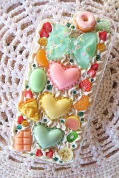 Coque pour IPHONE 5C - Trio de macarons cœurs