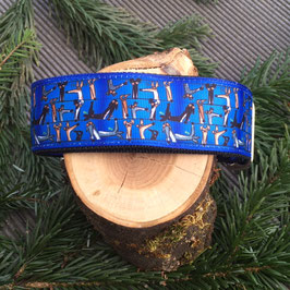 "Hundehalsband ""Greyhound blau"""