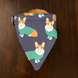 "Dreieckstuch Hundehalsband ""Corgi"""