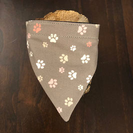 """Dreieckstuch Hundehalsband """"kleine Pfoten beige"""""""