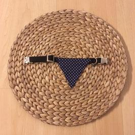 "Einzelstück Dreieckstuch Hundehalsband ""Punkte blau mini"""