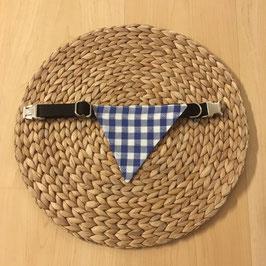 """Einzelstück Dreieckstuch Hundehalsband """"Herzen blau"""""""