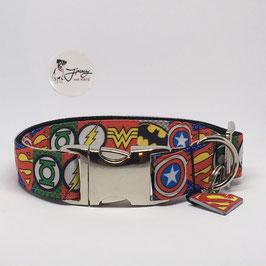 """Hundehalsband """"Superhelden"""""""