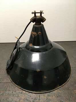 Black industrial lamp