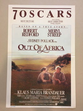 "Originele film affiche ""out of africa"""