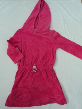 F-174 Frotteekleid nach dem Strandbaden oder Schwimmbad ;) in pink mit Kapuze von NUTMEG Gr. 1 1/2 -2 Jahre