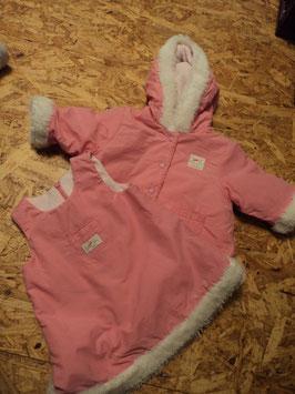 SR-99 Set Kleid in pink -innen Fleece -passender Mantel  von THE CHILDREN'S PLACE Gr-62/68