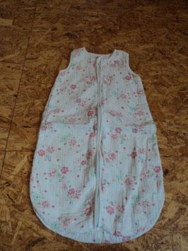 SR-210 Toller Schlafsack in weiß/mint/rose mit Blumen-innen Baumwolle  -aussen Musselin von C&A Gr. 70