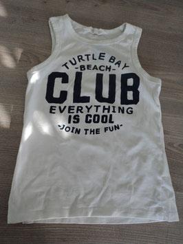 147 Shirt weiß Turtle Bay Beach Club von H&M Gr. 122/128