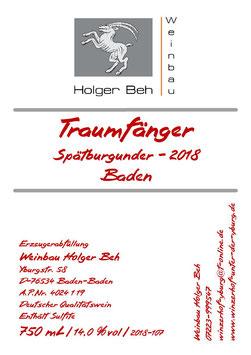 Traumfänger - Spätburgunder Rotwein 2018 - Qualitätswein - Baden