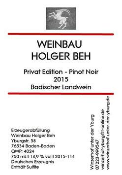 Pinot Noir - Privat Edition 2015 Badischer Landwein