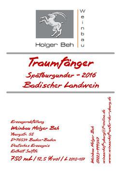 Traumfänger 2016 - Spätburgunder Badischer Landwein
