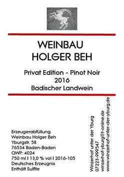 Pinot Noir - Privat Edition 2016 Badischer Landwein