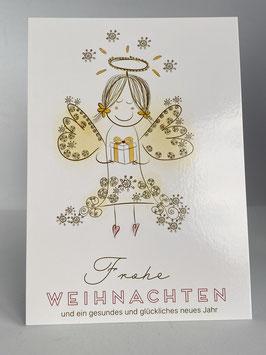 """Postkarte Frohe Weihnachten """"Geschenke-Engel"""""""