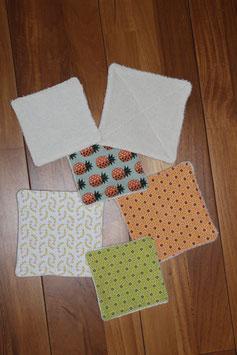 6 Lingettes démaquillantes en  micro-éponge de coton bio pour démaquillage et nettoyage en profondeur (2 x 6 lingettes achetées, 2 lingettes supplémentaires offertes -panachage  possible).)