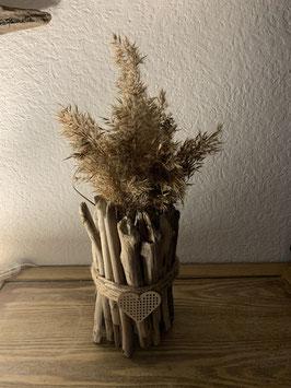 Vase en bois flotté et fleurs séchées pour la Fête des Mères