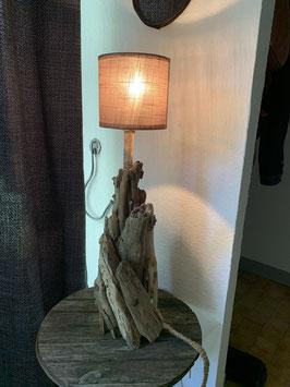 Lampe naturelle en bois flotté